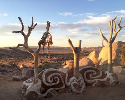 Garth's Boulder Gardens, 640 Acres of Magical Land with Amazing Structures, Wildlife, Boulders, and Views, Geronimo Trail, CA
