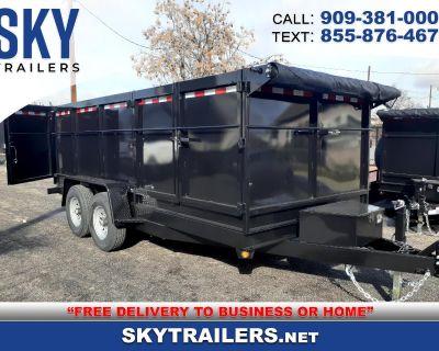 2021 Sky Trailers Dump Trailer DT8X14X4 HD