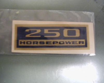 327ci 250 Hp Valve Cover Decal Early Mid 60's Original Water Slide Gm New !