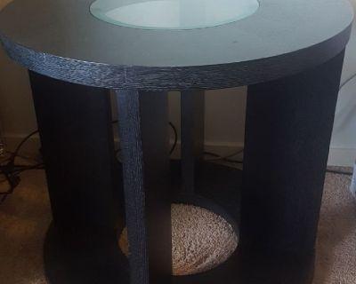CORNER TABLE- Round $25 OBO