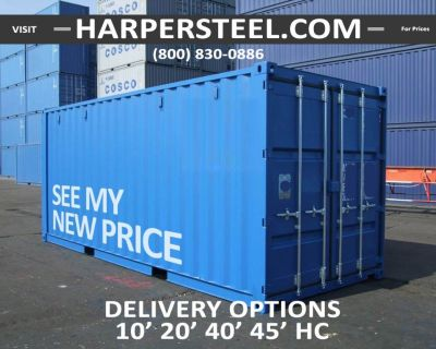 Steel Shipping Containers New Orleans - Largest Selection W/Delivery Options!