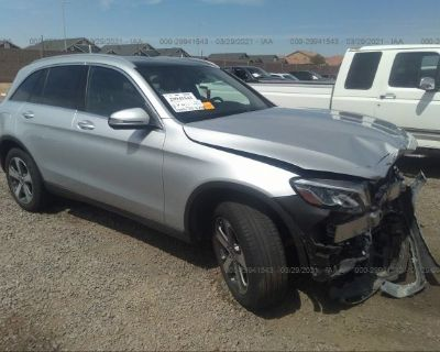 Salvage Silver 2018 Mercedes-benz Glc