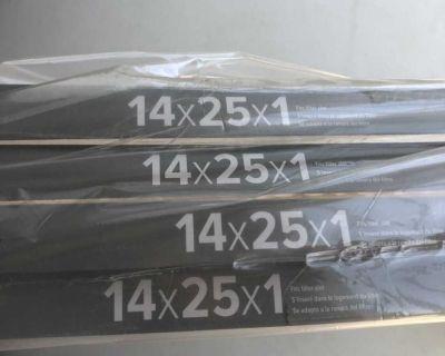 4 Filtrete 14x25x1 AC Furnace Filters