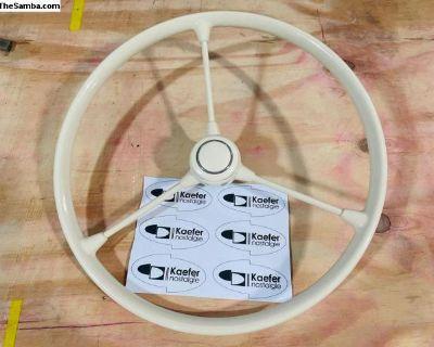 3 Spoke Steering Wheel IVORY BLACK