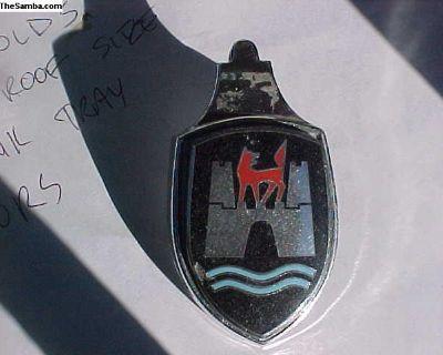Original VW Bug Wolfsburg crest 60-62