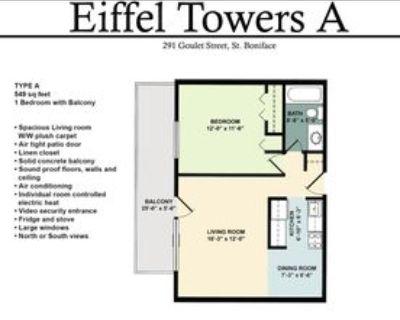 291 Goulet Street #217, Winnipeg, MB R2H 3C4 1 Bedroom Apartment