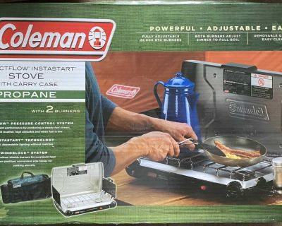 Brand new Coleman stove comes with carrying case