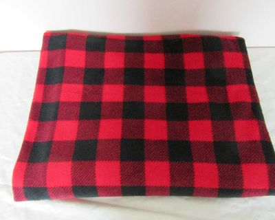 Plaid Fleece Blanket - Used for our dog
