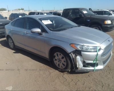 Salvage Silver 2014 Ford Fusion