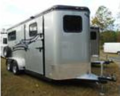 "2021 Hawk Trailers 2H BP w/Dress & Side Ramp, 7'6""x6'8"" 2 horses"