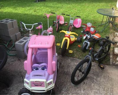 Bicycles, Tricycles and Ride On Toys