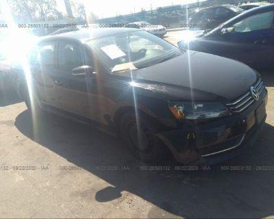 Salvage Black 2014 Volkswagen Passat