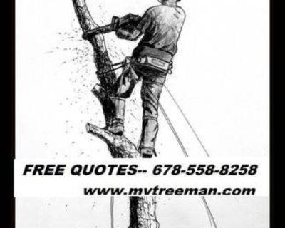 PROFESSIONAL TREE CUTTING 〓 STUMP REMOVAL SERVICE ♛ (FREE ESTIMATES, AVAILABLE city of atlanta )