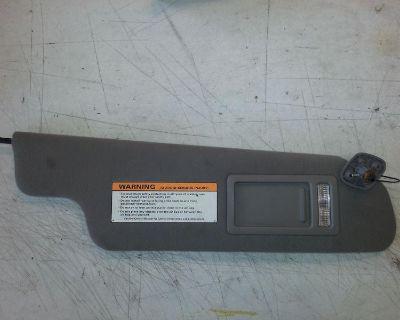 Oem 97-02 Ford Expedition Passenger Sun Visor Map Light Makeup Mirror Grey Gray
