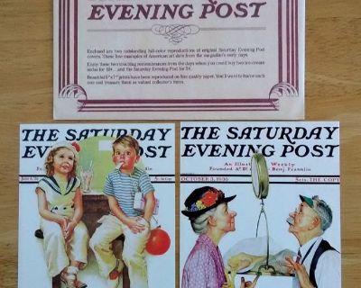 2 Vintage 1972 Saturday Evening Post Famous Lithographs Prints