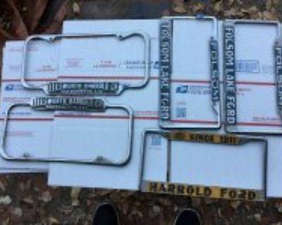 Original vintage license plate frames