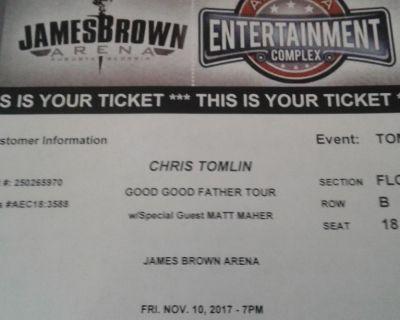 2 tickets Chris Tomlin concert in Augusta