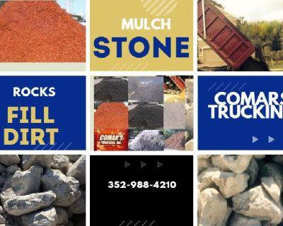 Mulch Dirt Rock Top soil supplier Comar's Trucking