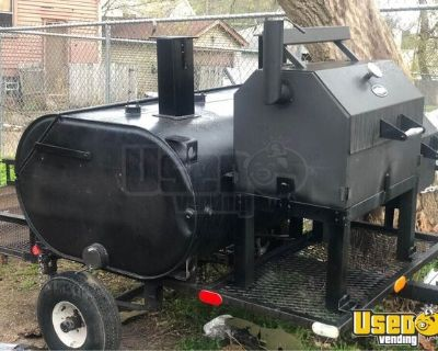 Mobile Barbecue Unit / Open BBQ Smoker Tailgating Trailer