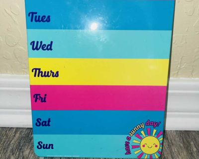 Magnetic Dry Erase Board 9 tall x 7.5 wide