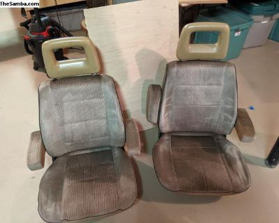 Vanagon Westfalia brown front seats x2