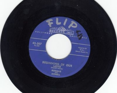 ROSALLE & DONELL ~ Beginning Of Our Love *VG+45 !