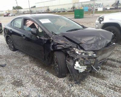 Salvage Black 2013 Honda Civic Sdn