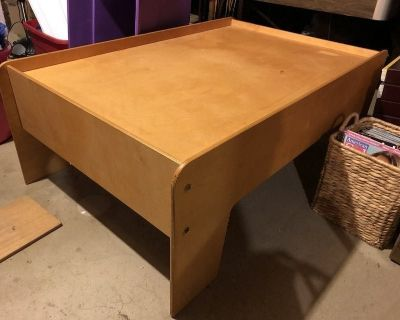 Large, wood table for toy trains