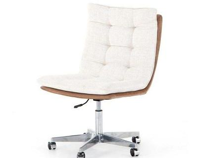 Buy Four Hands Quinn Desk Chair Chaps Saddle | Office Chairs | Graysonliving.com