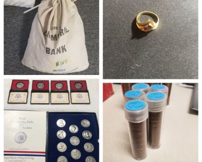 COINS AND JEWELRY. AUCTION ENDS MARCH 4TH AT 8PM