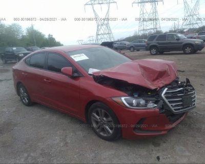 Salvage Red 2018 Hyundai Elantra