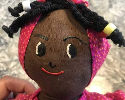 Authentic hand-made Jamaican doll from Jamaica