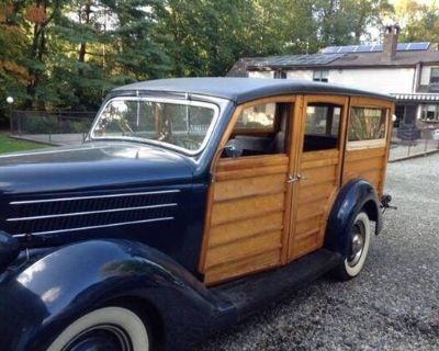 1936 Ford Woodie 4-door All-Steel Barn Find Deluxe Flathead V8 Fordor Original Restored Station Wagon Woodie Wagon