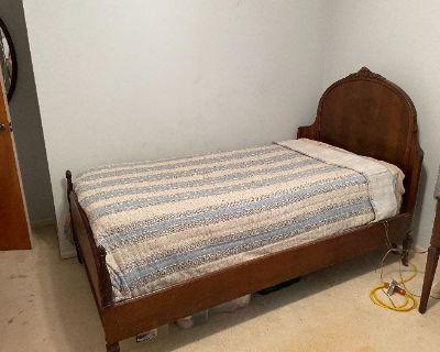 Estate sale with antique bedroom set