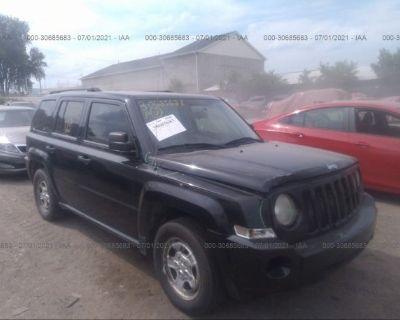 Salvage Black 2009 Jeep Patriot