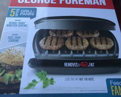 Brand new George Foreman Grill, Classic Plate Grill And Panini Press, 5 Servings