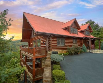 Mountaintop Paradise, Pigeon Forge Cabin, Mountain Views! Hot Tub, Pool Table, Cedar Falls Resort - Pigeon Forge