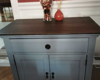 """Beautiful side table/hall table. Solid wood. Heavy. 32""""X18""""X29""""H"""