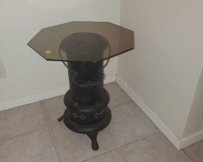 Side table glass top.