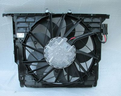 Bmw 5 6 7 Series 08 09 10 11 12 Ac Radiator Front Cooling Assembly Fan Motor Oem