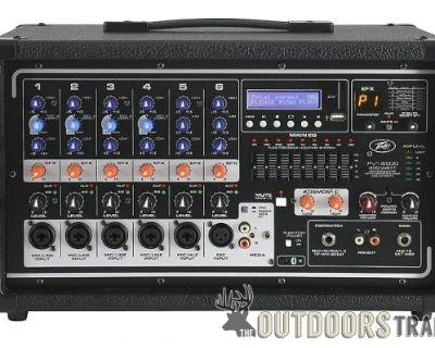 FS PEAVY 400WATT MIXER/POWER AMP BLUETOOTH 6 CHN STEREO