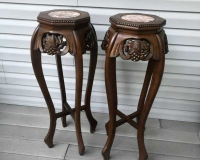 Estate Plant Stands Marble Tops