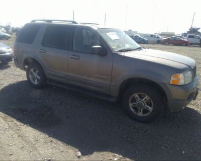 Salvage Gray 2002 Ford Explorer