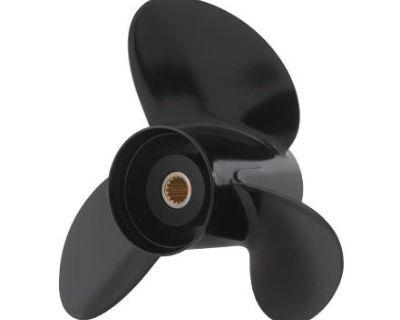 """Johnson Evinrude E-tec 3 Blade Aluminum V-6 Prop Propeller 14.5"""" X 19"""" 0765188"""