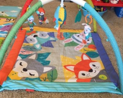 Infantino 4-In-1 Twist & Fold Activity Gym & Play Mat