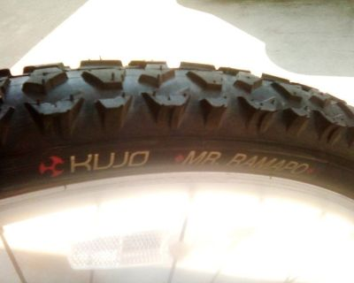 """Set of two 26"""" knobby tires"""