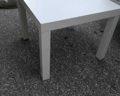 Side Table $10, used white 55 x 55 cm