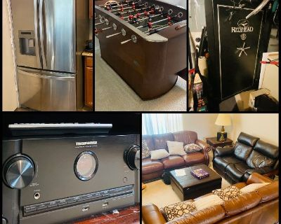 *Online Only* Ft Worth Estate Auction! Gun Safe, Gibson, Fitness, Game Room, Leather & Much More!