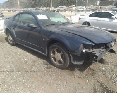 Salvage Blue 2001 Ford Mustang
