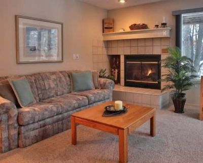 Comfy 2 Bedroom, 2 Bath Condo #110 @ Trout Creek, Kitchen, Fireplace-By Heated Pools, Hiking Trails. - Harbor Springs